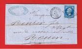 LETTRE DE FLERS DE L ORNE  //  POUR  ROUEN  //  18 AOUT 1862 - 1849-1876: Classic Period