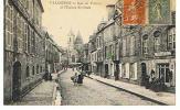 Rue De La Poterie Et L´eglise St Malo Cpa En  Bon état - Valognes