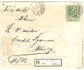 REF LCIRC2 - CHILI ENVELOPPE VOYAGEE EN RECOMMANDE QUILLOTA / NANCY 7/12/1916 - Chili