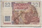 -*LOT A 242 *BILLET DE 50 FRANCS LE VERRIER*C.16-5-1946.C.*BILLET CIRCULE * - 50 F 1946-1951 ''Le Verrier''