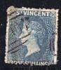 ST VINCENT  Victoria  1/- Slate Grey No Wmk  Perf 12 X 15 SG 11 - St.Vincent (...-1979)