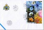 FDC SAN MARINO FLEURS ROSA DIANTHUS DELPHINIUM FACIAL 4,50 EUR. - Végétaux
