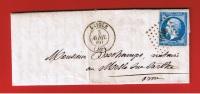 LETTRE DE LAIGLE  //   POUR  MESLE SUR SARTHE  //  3 AVRIL 1860 - 1849-1876: Classic Period