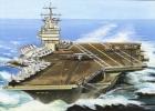 Aviation Art Postcard By Artist Gustav Hybner  -  Aircraft Carrier Nimitz - 1939-1945: 2ème Guerre