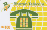 BHUTAN - Always There For You, Bhutan Telecom First Issue Nu.100, Mint