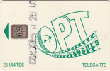 COMOROS ISL. - OPT Logo Green, First Issue 25 Units, Chip SC4, CN : 44690, Tirage %65000, Used - Comoros