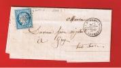 LETTRE DE ST REMY EN BOUZEMONT //   POUR GRAY  //   9 AVRIL  1872 - 1849-1876: Classic Period