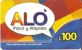 TARJETA DE HONDURAS DE 100 LEMPIRAS  DE ALO - Honduras