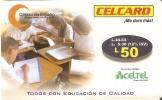 TARJETA DE HONDURAS DE 50 LEMPIRAS  DE CELCARD CIRCULO DE ESTUDIO - Honduras