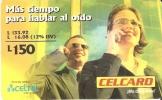 TARJETA DE HONDURAS DE 150 LEMPIRAS  DE CELCARD MAS TIEMPO PARA HABLAR - Honduras