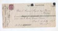 867/17 -  Reçu TP 46 DOUR 1887 - Entete Launois Frères , Fabricants De Chicorée à ANGRE - 1884-1891 Leopold II