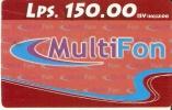 TARJETA DE HONDURAS DE 150 LEMPIRAS  - MULTIFON - Honduras