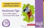 TARJETA DE HONDURAS DE 50 LEMPIRAS - BACKTONES TIGO - Honduras
