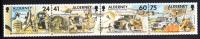 Alderney Scott #91 MNH Strip Of 4 30th Signal Regiment - 25th Anniversary - Alderney