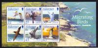 Alderney Scott #214a MNH Souvenir Sheet Of 6 Migrating Birds - Seabirds - Alderney