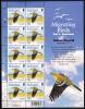 Alderney Scott #235 MNH Minisheet Of 10 36p Yellow Wagtail - Alderney