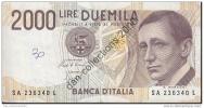 LOT A 244 *BILLET DE 2.000 LIRE_1990*BILLETS CIRCULES* - [ 2] 1946-… : République