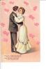 Embossed Couple Dancing Wedding Bells Blushing Bride - Marriages