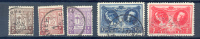 Belgie - Belgique Ocb Nr:  240 - 244  (zie Scan) - Used Stamps