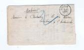 891/17 -   IMPRIME Non Affranchi Double Cercle ISEGHEM 1872 Vers MALINES - Taxé 2 Comme Lettre -  Faire-Part De Deuil - Belgique