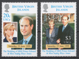 British Virgin Islands 1999 Mi# 959-60** WEDDING OF PRINCE EDWARD AND SOPHIE RHYS-JONES - Iles Vièrges Britanniques