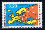 F Europarat 1990 Mi 48 Landkarte - Frankreich