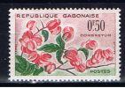 G+ Gabun 1961 Mi 160 Mnh Blüte - Gabun (1960-...)