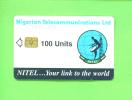 NIGERIA - Chip Phonecard 100 Units Reverse Sateliite Dish - Nigeria