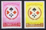 Lebanon, Liban 1962 Bridges Tourament, Michel 790-91, Mint Never Hinged. - Libanon