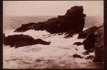 CABINET GRAND PHOTO ALBUMINE SUR CARTON **  VINTAGE ALBUMEN CABINET ** BELLE ISLE POINTE AUX POULAINS - Anciennes (Av. 1900)
