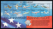 Samoa Scott #591 Minisheet Of 10 DC1 - DC10 Aircraft - Samoa