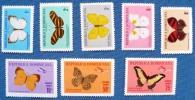 REPUBLIQUE DOMINICAINE Papillons 8 VALEURS Poste + Poste Aerienne (Yvert 638/42+PA184/6) MNH Neuf Sans Charniere. - Schmetterlinge