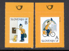 SLOVENIA 2011. PAVLI  ON BICYICLE AND PAVLI AND DOGGIE LUC. DEFINITIVE STAMPS - Slovenia