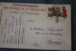 MCL DES LOGIS 1er ARTILLERIE  BCM PARIS P/ BOURGES MILITARIA CARTE DE FRANCHISE MILITAIRE  F.M.  > GUERRE 14/18 - Marcophilie (Lettres)