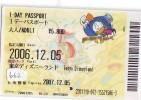Disney * PASSPORT * Entreecard JAPON * TOKYO DISNEYLAND Passeport (662) JAPAN PASS * - Disney