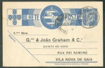 EP Carte $25 Obl. Dc. AMBULANCIA DOURO I Du 17-8-1939 Vers Vila Nova De Gaia. TB  - 6965 - Entiers Postaux