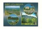 Cp, 19, Bort-les-Orgues, Multi-Vues, Voyagée 1996 - France