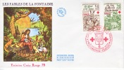 France First Day Cover  RED CROSS  FOLK TALES De FONTAINE - FDC