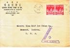 Straits Settlements Cover Censored To U.S.A.  1940 - Straits Settlements