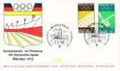 Germany First Day Cover MUNCHEN  OLYMPICS  HOCKEY  TRACK - [7] Federal Republic