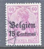 Germany Occupation Belgium N 6  (o) - Occupation 1914-18