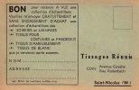 CARTE DE PUBLICITE TISSAGES REUNIS COIN AVENUE GEZELLE RUE RODENBACH SAINT ST NICOLAS SINT NIKLAAS FABRIQUE USINE - Sint-Niklaas