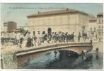 Carte Postale Ancienne Martigues - Pêcheurs Au Trident Sur Le Pont De Jonquière - Martigues