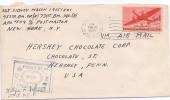 APO 598 MORLEY HALL ENGLAND 14.2.1945 NY US Army Fieldpost (567) - Etats-Unis