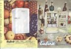 Advertising Folder Werbung  : Kuche Cuisine Kitchen : EISFINK Carl FINK Asperg Kühlschrank Refrigerateur Fridge - Publicidad