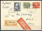 B.11.JUL.380 .  POSTWAARDESTUK VERSTUURD IN NEDERLAND .   1942.  PER EXPRESSE. AANGETEKEND. - 1891-1948 (Wilhelmine)
