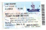 Disney * PASSPORT * Entreecard JAPON * TOKYO DISNEYLAND Passeport (736) JAPAN PASS * CINEMA * FILM * MONSTERS * - Disney