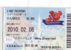 Disney * PASSPORT * Entreecard JAPON * TOKYO DISNEYLAND Passeport (750) JAPAN PASS * CINEMA * FILM * NEMO - Disney