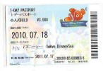 Disney * PASSPORT * Entreecard JAPON * TOKYO DISNEYLAND Passeport (754) JAPAN PASS * CINEMA * FILM * NEMO - Disney