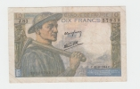 FRANCE 10 FRANCS 1944 VF+ P 99e 99 E - 1871-1952 Circulated During XXth